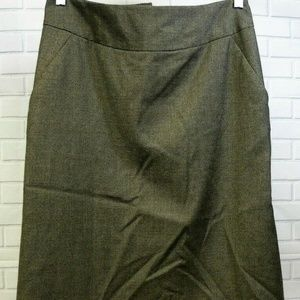 Banana Republic Brown Houndstooth Wool Skirt 8